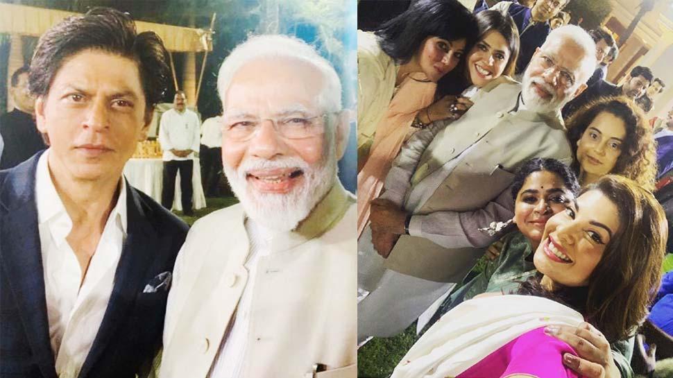 शाहरुख से लेकर आमिर तक हुए पीएम मोदी के मुरीद, सेल्फी में नजर आईं ये एक्ट्रेस