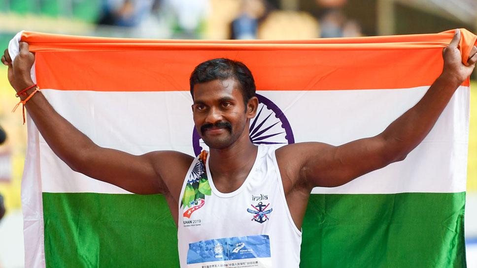 गुणसेकरन ने चीन में किया भारत को झंडा बुलंद, मिलिट्री खेलों में जीते 2 गोल्ड