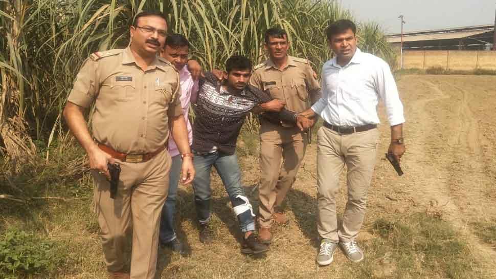 मुजफ्फरनगर: यूपी पुलिस ने मुठभेड़ में पकड़ा इनामी बदमाश, सिपाही हुआ घायल