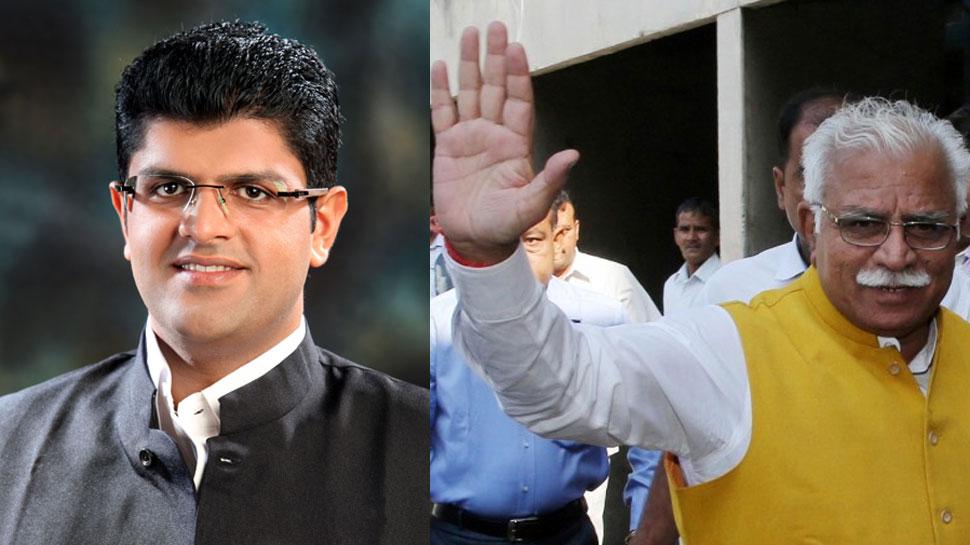 हरियाणा: खट्टर-दुष्यंत के साथ 4 मंत्री भी लेंगे शपथ, JJP से भी दो नाम