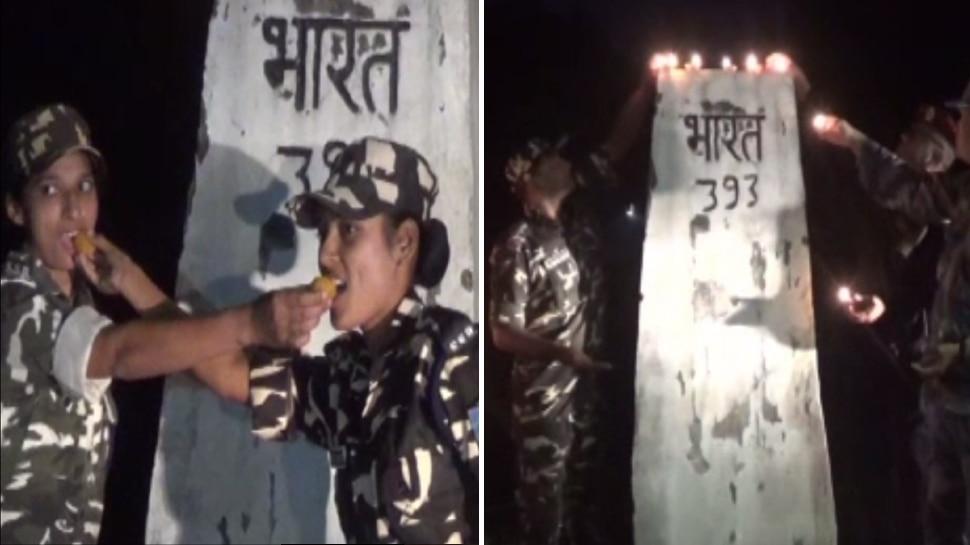 भारत-नेपाल बॉर्डर पर दोनों देशों के जवानों ने मनायी दीपावली, एक-दूसरे को दी बधाई