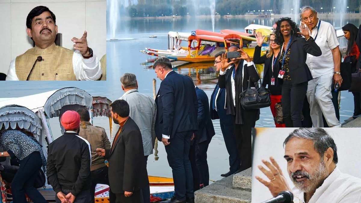 ईयू सदस्यों के कश्मीर दौरे पर कांग्रेस बौखलाई, भाजपा ने दिया जवाब