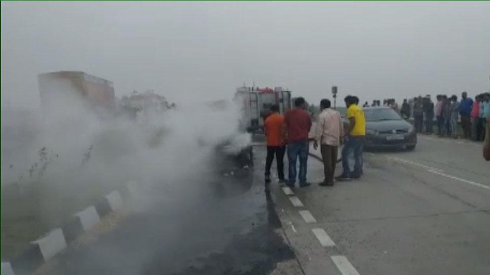 राजस्थान: चलती कार बनी आग का गोला, जिंदा जला ड्राइवर