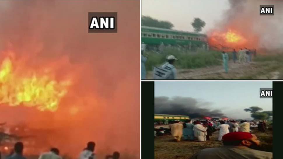पाकिस्तान रेल हादसे का VIDEO देख कांप उठेगी रूह, मृतकों की संख्या हुई 73
