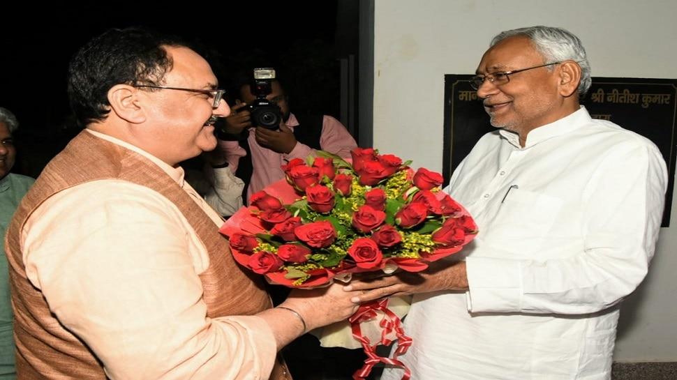 पटना: CM नीतीश से मिले JP नड्डा, आधे घंटे तक हुई दोनों नेताओं की मुलाकात
