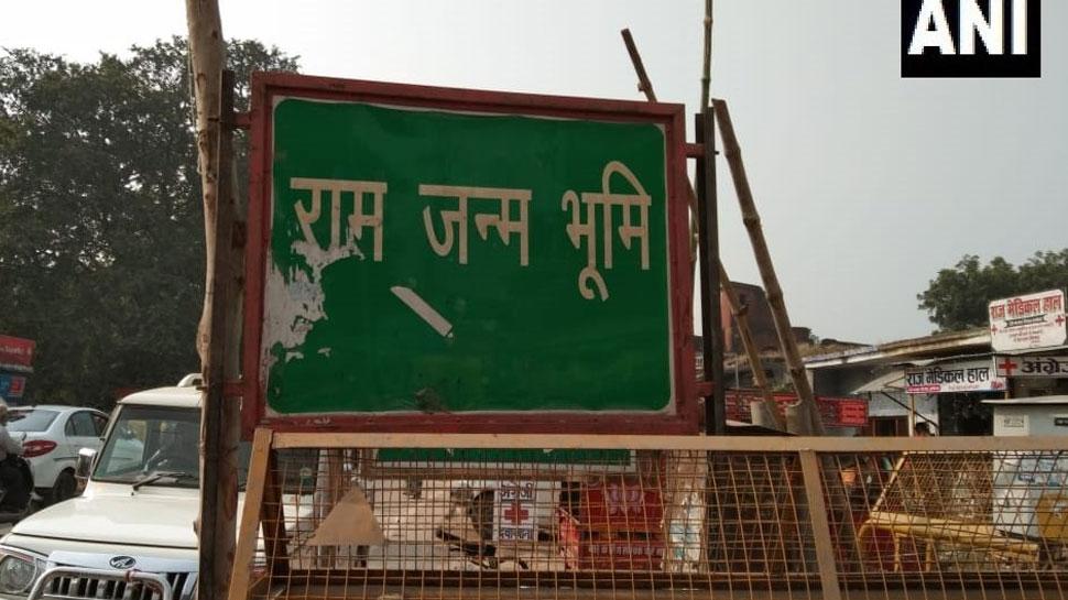 अयोध्या फैसला: श्री रामलला मार्ग की गलियों में बैरिकेडिंग, पुलिस ने कड़ी की सुरक्षा