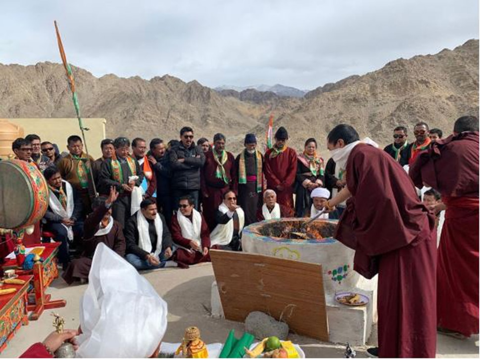 BJP office opened at a height of 11 thousand 500 feet