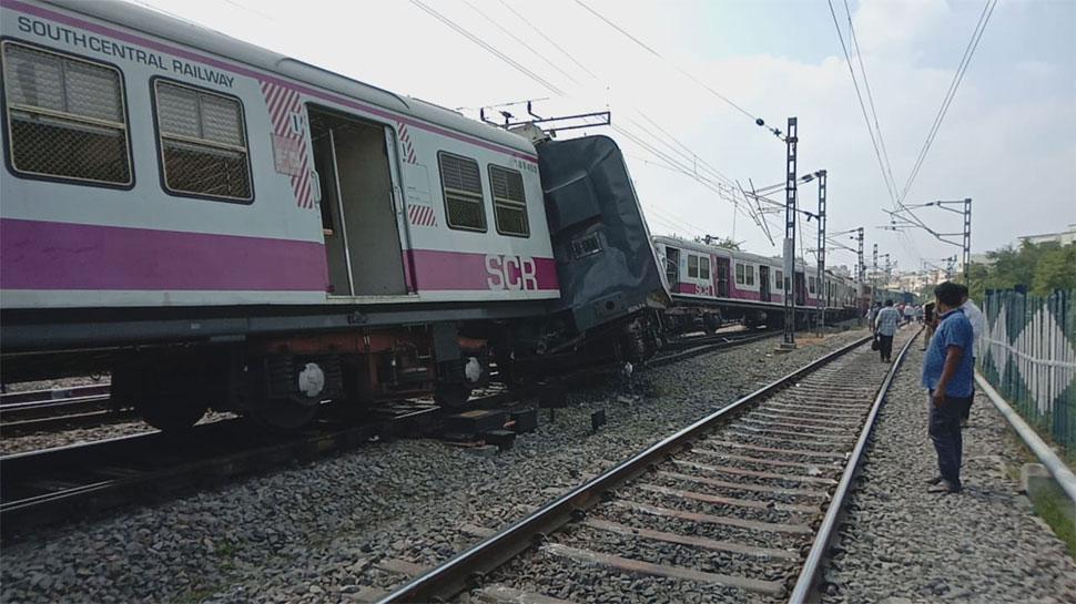 हैदराबाद: काचीगुडा रेलवे स्टेशन पर दो ट्रेनों में टक्कर, 12 घायल