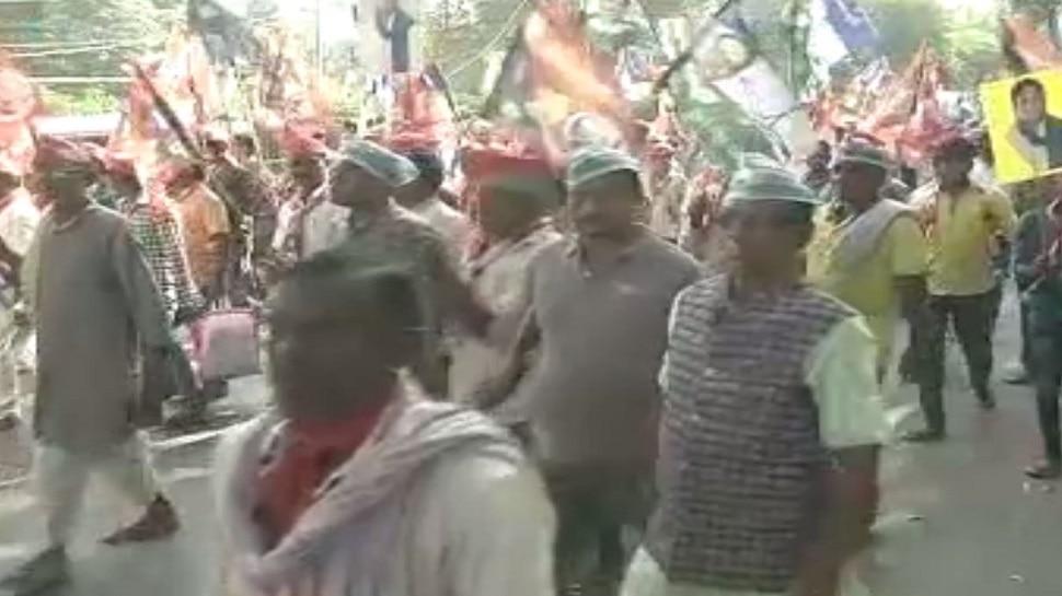 सासाराम: आक्रोश मार्च में शामिल हुआ महागठबंधन, केंद्र-राज्य सरकार को बताया गरीब विरोधी