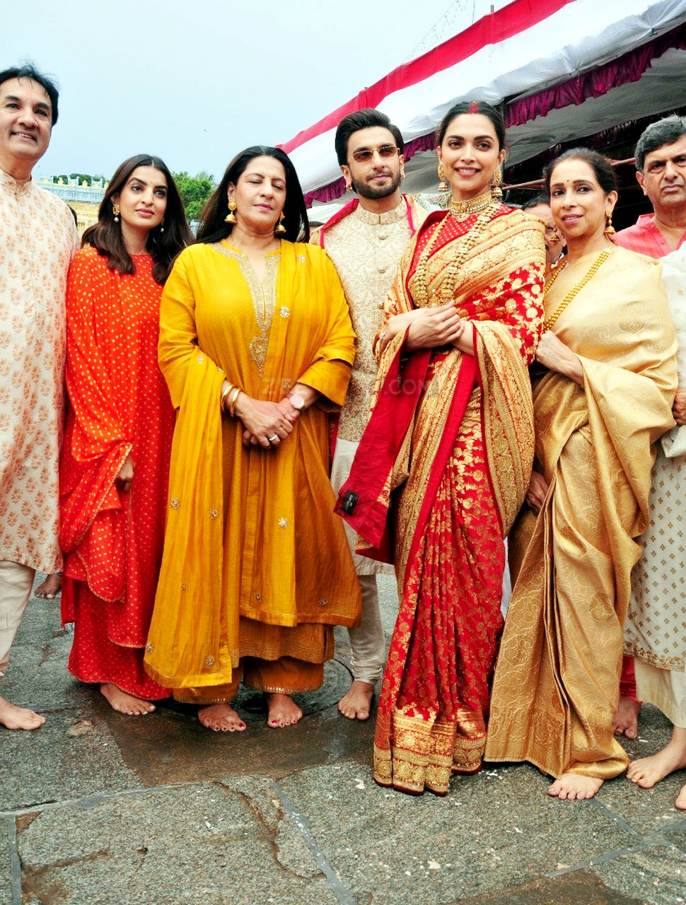Deepika Padukone-Ranveer Singh look like a newly married couple at Tirupati Temple