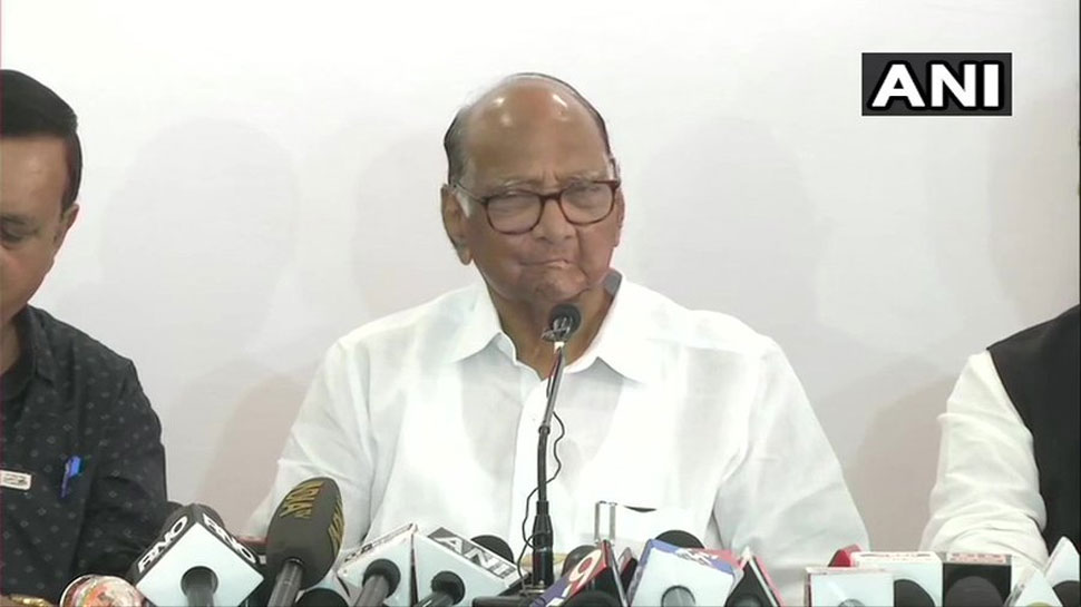 NCP प्रमुख शरद पवार ने कहा, 'महाराष्ट्र में गठबंधन सरकार बनेगी और 5 साल तक चलेगी'