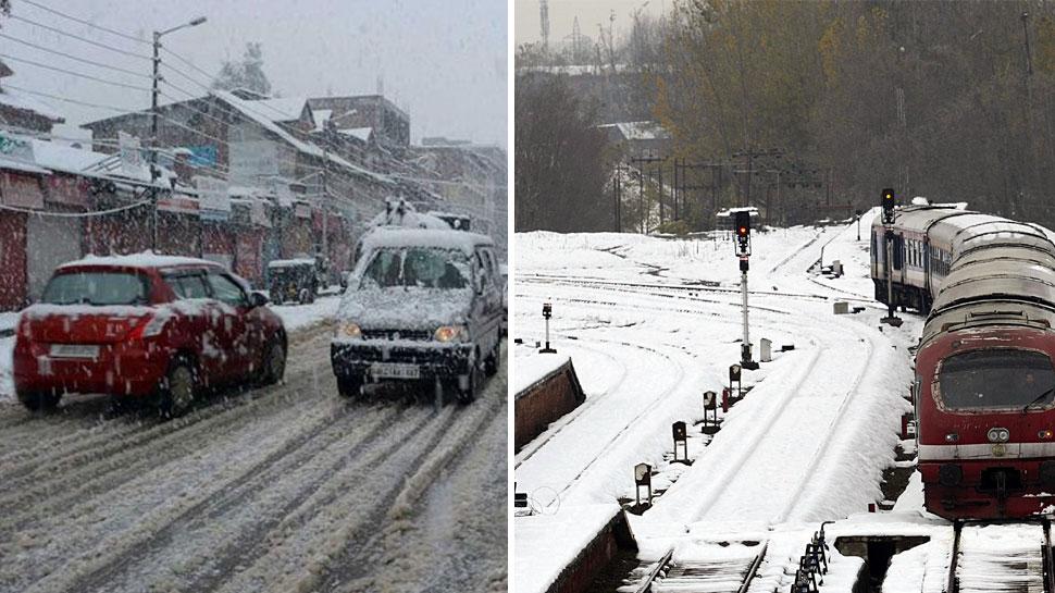 कश्मीर घाटी में शीतलहर जारी, जम्मू कश्मीर राष्ट्रीय राजमार्ग यातायात के लिए बंद