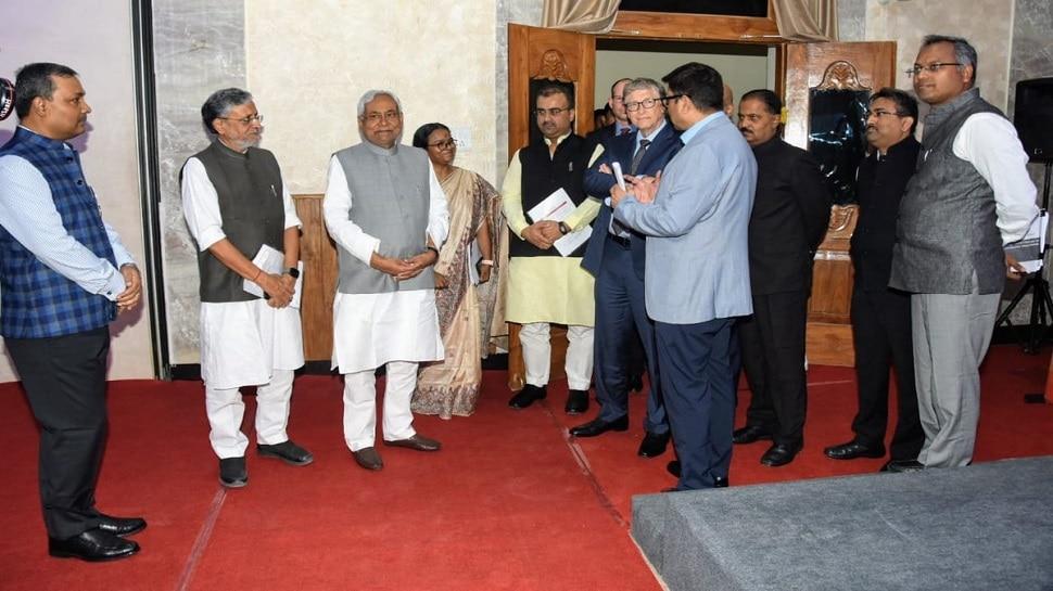पटना: CM नीतीश से मिले बिल गेट्स, स्वास्थ्य सेवाओं पर हुई बातचीत