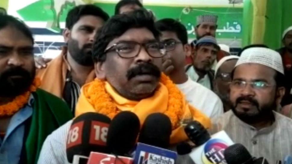 रांची: चुनाव से पहले चादर चढ़ाने पहुंचे हेमंत सोरेन, BJP पर साधा जमकर निशाना