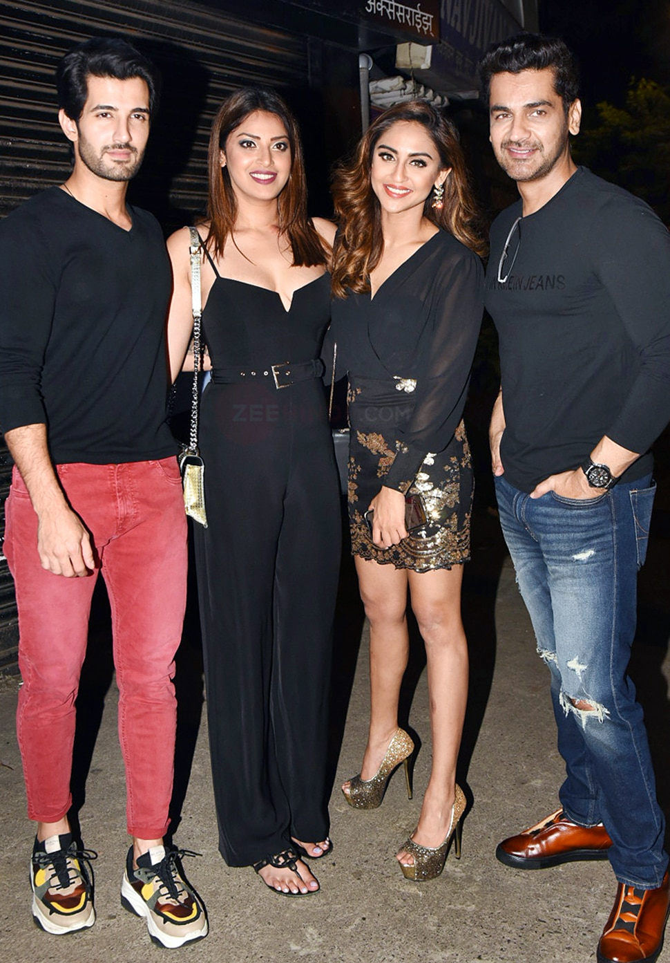Krishna Shroff and krystle D'Souza Ashish Chaudhari etc snapped at bastian