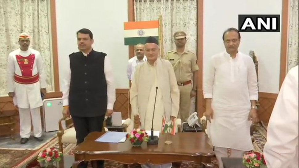 महाराष्ट्र में बड़ा सियासी उलटफेर, BJP-NCP ने बनाई सरकार, फडणवीस बने CM, अजित पवार डिप्टी सीएम