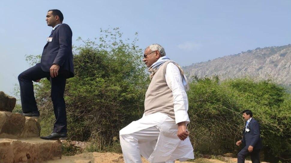 बिहार: नीतीश ने नालंदा के हिरण्य पर्वत का किया निरीक्षण, लगाया जाएगा सोलर प्लांट