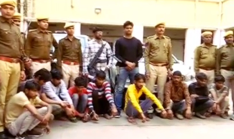 पुलिस ने 4 हजार किलोमीटर का सफर तय कर पकड़ा एटीम लूट के 10 बदमाशों को