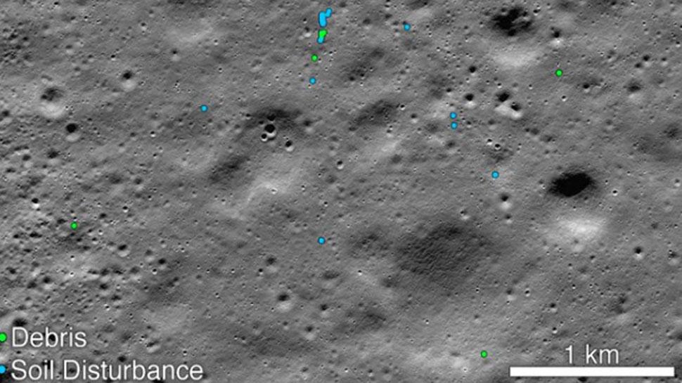 NASA ने खोज निकाला चंद्रयान-2 के 'विक्रम लैंडर' का मलबा, जारी की तस्वीर