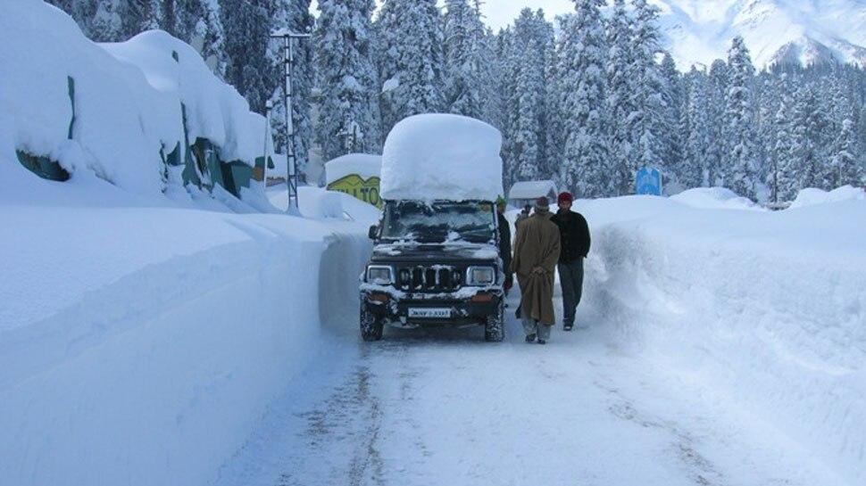 जम्मू कश्मीर में कड़ाके की सर्दी, माइनस 25 डिग्री तक गिरा तापमान