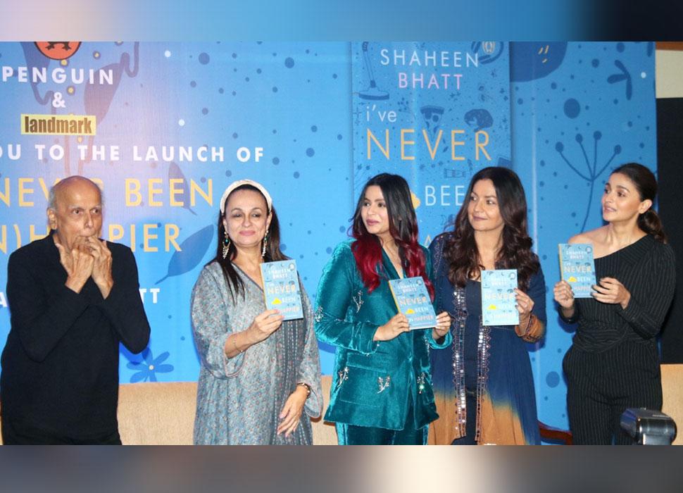 Alia Bhatt with family etc launch of Shaheen Bhatt's debut book