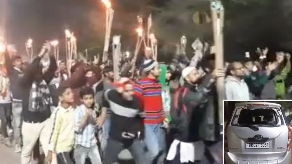 बिहार: गया में NRC-CAA के विरोध में विरोध-प्रदर्शन, जमकर तोड़फोड़ और आगजनी