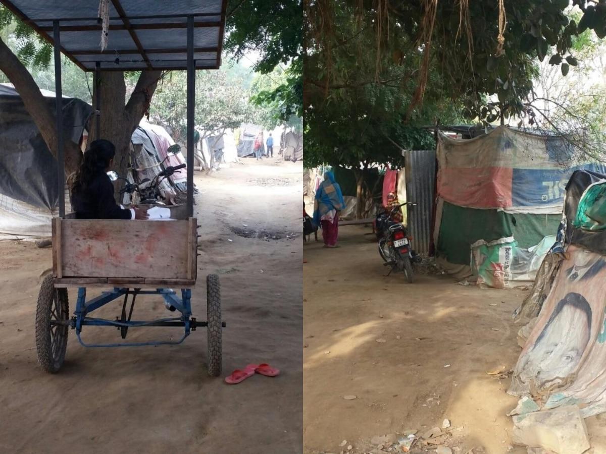 हरियाणा के बेघर दलितों को कड़कड़ाती ठंड में नही मिली छत