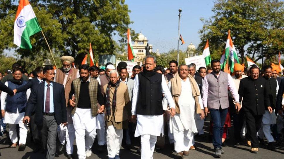 जयपुर में फिर गरजे अशोक गहलोत, कहा- 'राजस्थान में नहीं लागू होगी NRC-CAA'