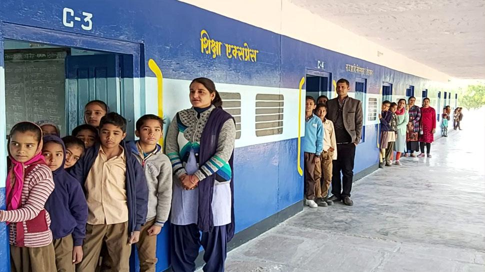 डीडवाना में बच्चों को शिक्षित कर रही ट्रेन, ड्राप आउट रोकने के लिए शिक्षकों का नवाचार