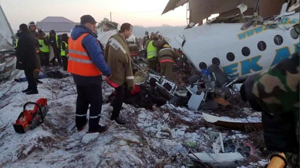कजाकिस्तान: अलमाटी में यात्री विमान क्रैश, 100 लोग थे सवार, कम से कम 15 लोगों की मौत
