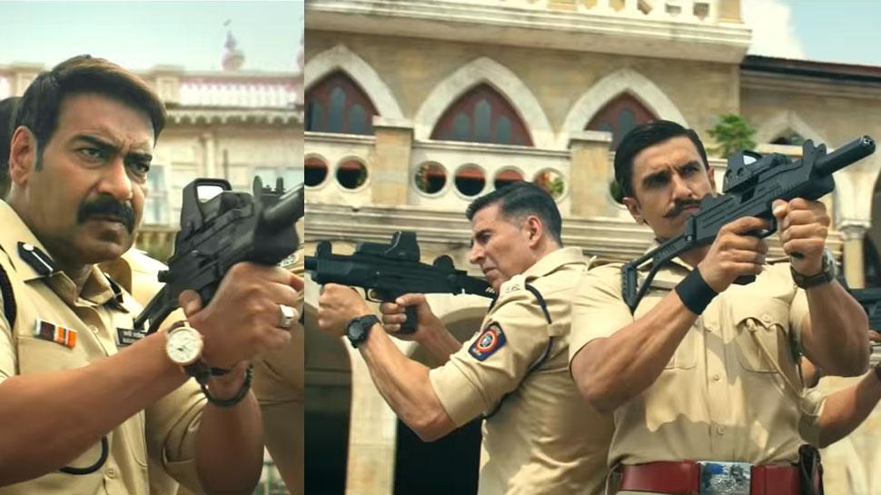 सामने आया 'सूर्यवंशी' का पहला VIDEO, अक्षय, अजय और रणवीर मिलकर मचाएंगे धमाल