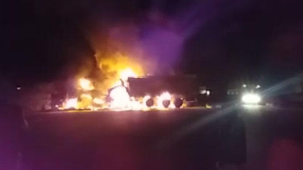 जोधपुर: हादसे में जले ट्रक से डोडा पोस्त बरामद, पुलिस ने शुरू की छानबीन