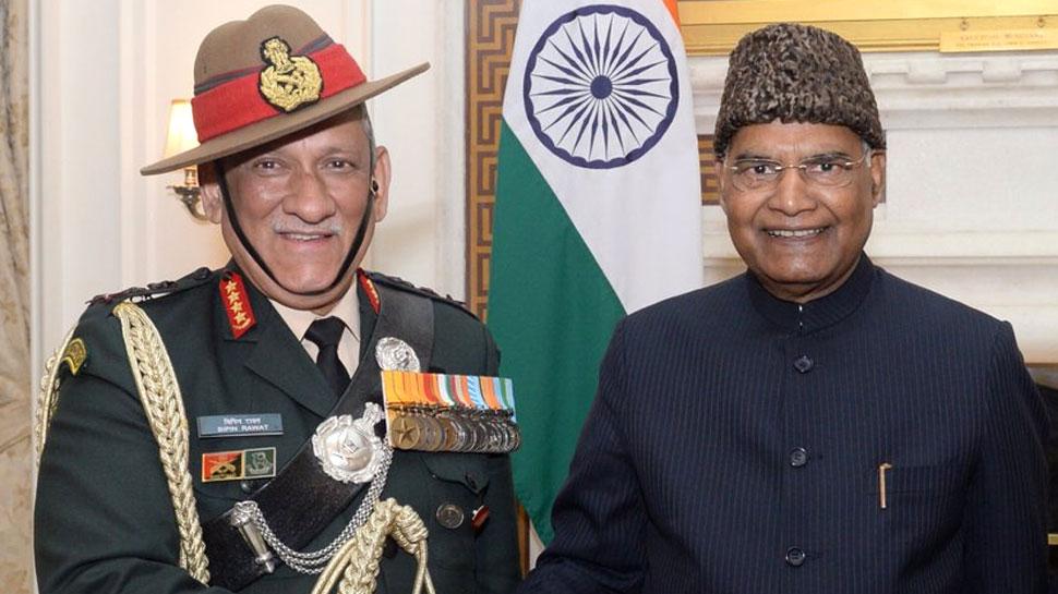 राष्ट्रपति राम नाथ कोविंद से मिले जनरल बिपिन रावत, कल से संभालेंगे CDS का पद