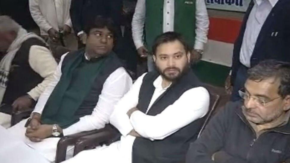 पटना: कांग्रेस के भोज में महाठबंधन का शक्ति प्रदर्शन, तेजस्वी यादव भी हुए शामिल