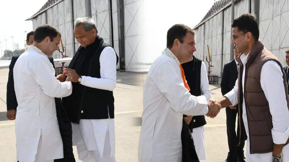 युवा आक्रोश रैली के लिए जयपुर पहुंचे राहुल गांधी, CM और डिप्टी CM ने किया स्वागत