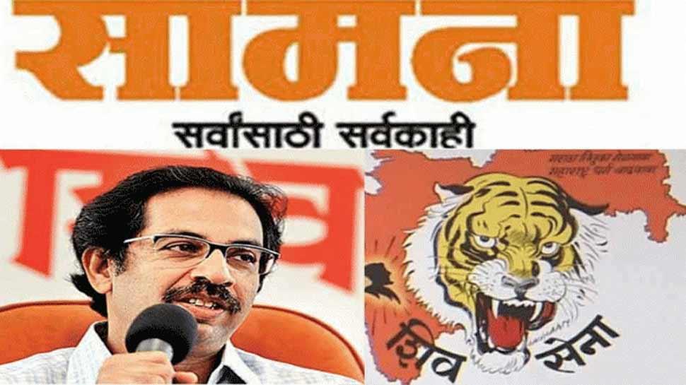 शिवसेना का सामना के जरिए BJP पर हमला, कहा- SC की वजह से हो रहा है राम मंदिर निर्माण