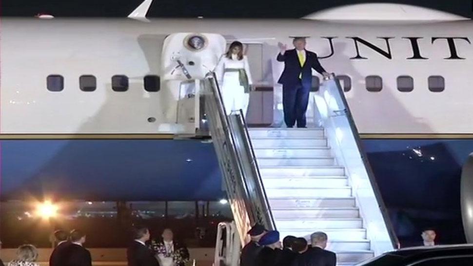 ताजमहल का दीदार करने के बाद दिल्ली पहुंचे अमेरिकी राष्ट्रपति डोनाल्ड ट्रंप