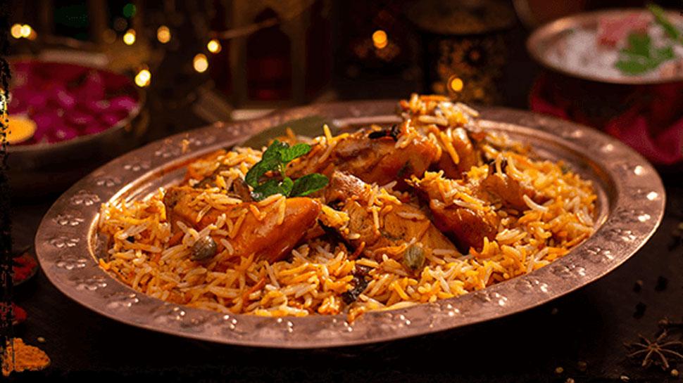 menu at the banquet dinner for US President Donald Trump Dum gosht biryani, malpua with rabri Dal Raisina