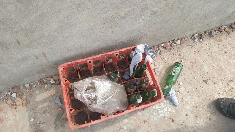 Petrol bomb and stones found on rooftop of Councillor Tahir Hussain 3