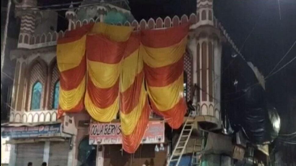 होली पर उत्तर प्रदेश प्रशासन अलर्ट, अलीगढ़ के इस संवेदनशील इलाके में ढकी गई मस्जिद