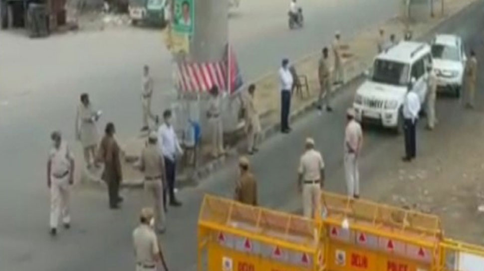 Delhi Police is patrolling with the help of drone cameras