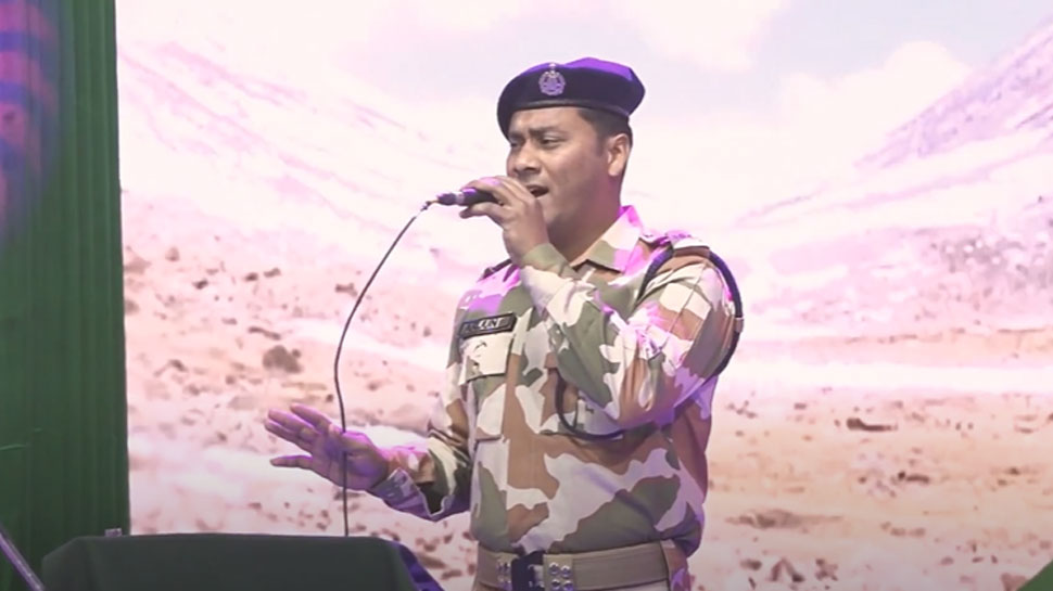 आईटीबीपी जवान ने देश के कोरोना योद्धाओं को समर्पित किया 'तेरी मिट्टी' गाना