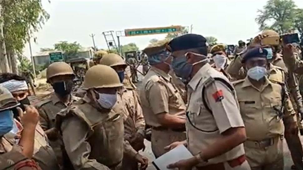 मजदूरों के राज्य की सीमा में प्रवेश को लेकर भिड़ी यूपी-राजस्थान पुलिस, 2 दरोगा घायल