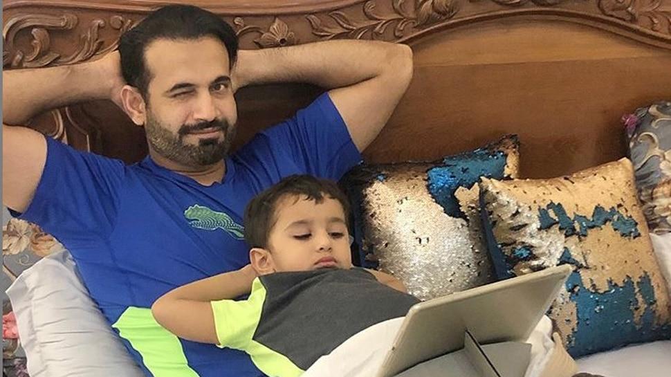 इरफान पठान ने बेटे को उछालकर किया कैच, फैंस ने दिया मजेदार रिएक्शन