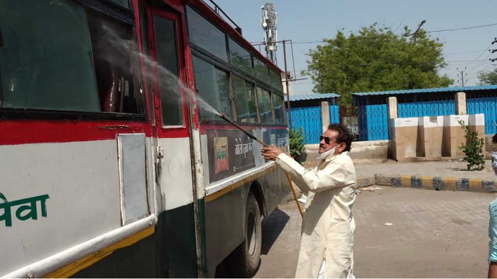 sanitized 100 buses