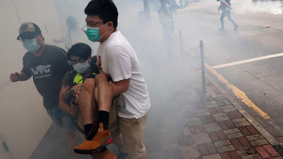 Tear gas fired on protesters