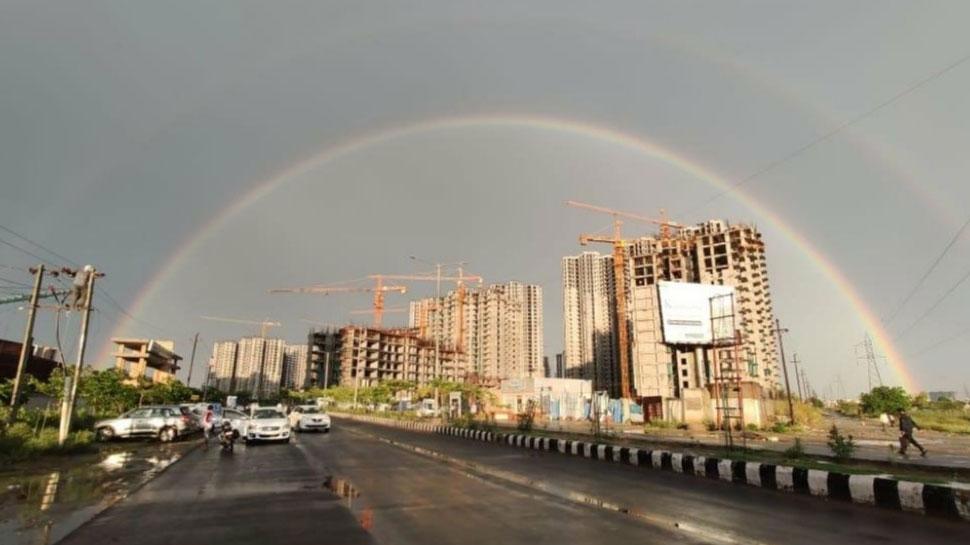 delhi after rains rare scenery