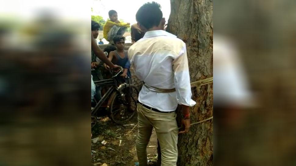बिहार: दबंगों ने पेड़ से बांधकर की युवक की जमकर पिटाई, हुआ गिरफ्तार