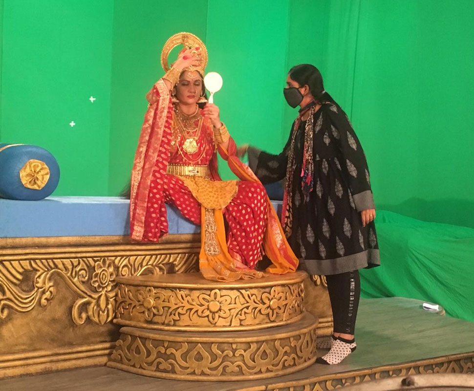 Dr B.R. Ambedkar and Santoshi Maa resume shoot