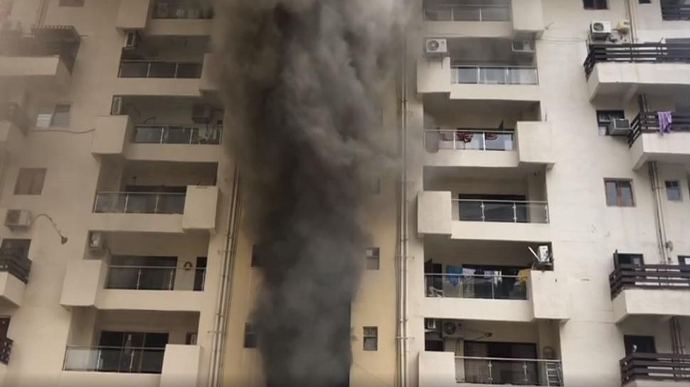 कानपुर: NRI सिटी के टावर 6 में लगी आग पर पाया गया काबू